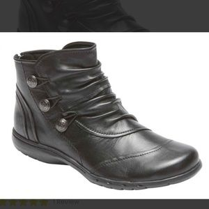 - RockPort Cobb Hill Collection Black Ankle Boots